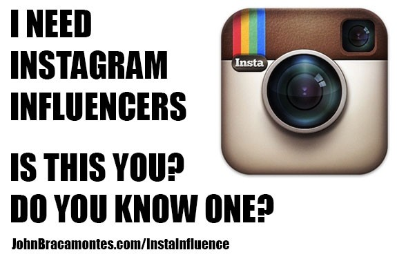 Are You or Do You Know of an Instagram Influencer?